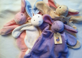 Bunny Lovey in Pink, Purple, White, or Cream