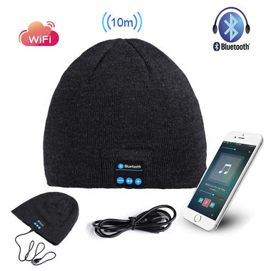 Hot Mic Wireless Bluetooth Smart Cap Soft Warm Headset Headphone Speaker