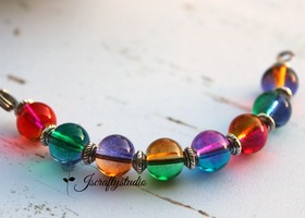 100+ 2-tone 8mm Glass beads