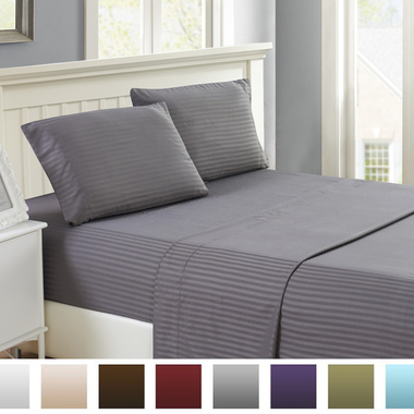 Bed Sheet HOTEL LUXURY 1800 Series Egyptian Quality Bed Sheet Set - Hypoallergen