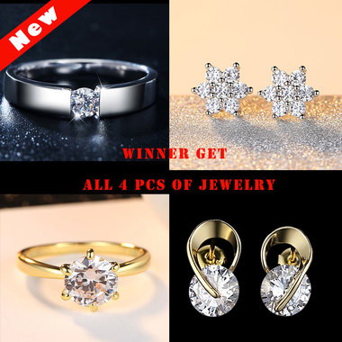 Winner Get All 4 pcs of Luxury AAAAA CZ Jewelry
