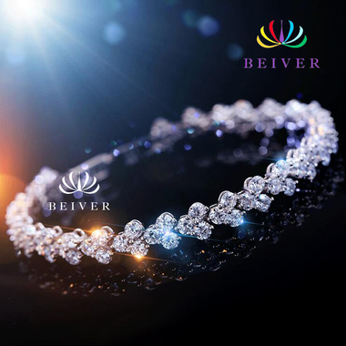 Super Shining CZ Bracelet in White Gold Filled