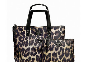 New Coach 2-pc Getaway Ocelot Print Small Packable Tote