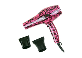 Pink Zebra Print Ionic Hair Dryer
