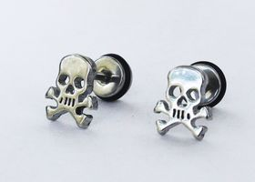 Stainless Steel Skull Earrings