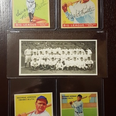 Reprint Babe Ruth Lot of Five (5) 1933 Goudey Yankees Baseball Card MINT ***WOW*