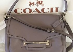 Coach Taylor Smooth Leather Flap Shoulder Bag,