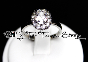 5 6 7 8 9 10 Halo Diamond Cut AAA Grade CZ SS Ring