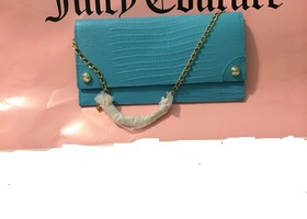 Authentic JUICY COUTURE Leather lizard clutch yhruo234