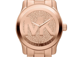 Michael Kors Runway Rose Gold Tone Watch
