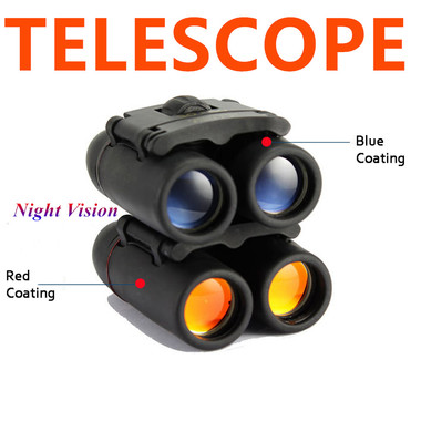 30x60 Travel Folding Telescope 126m/1000m Day Night Vision Magnification 8X Opti