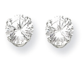 6.0CTW Round Brilliant Cut CZ Earrings