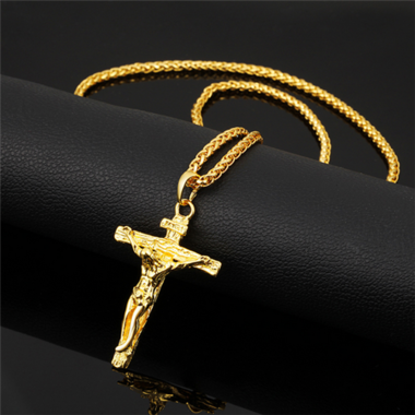 20'' White Gold Plated/Gold Plated Cross Pendant Necklaces