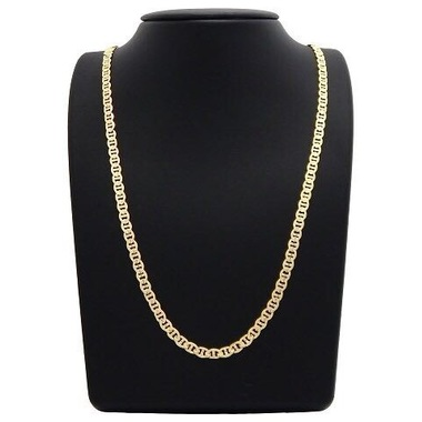 14K Gold Filled Mate Finish Gucci Link Chain 24