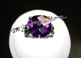 ✦ 5 6 7 8 10 Royal Shifting Violets SS Floral Ring