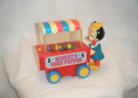 Vintage Mickey Mouse Corn Popper Toy