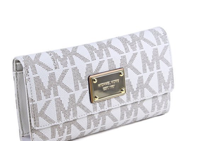 Michael Kors Jet Set Checkbook Wallet PVC Clutch