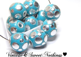 Handmade Focal Indonesian Sky Blue Beads