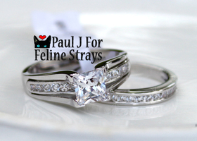 ✦Ur Choice of Finish: Sz 5-11 2ct Princess SS Ring Set