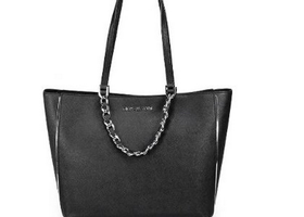Michael Kors Harper Black Saffianao Leather Large Tote