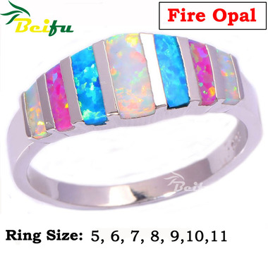 New Style Ring with Colorful Fire Opal Ring Hot-sale Ring for Women