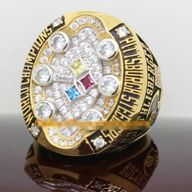 Luxurious 18K Gold Plated 2008 Pittsburgh Steelers championship ring