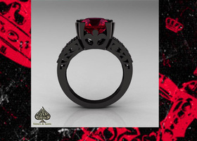 "SZ 6/7/8/9/10 ""The Red Queen"" Ring"