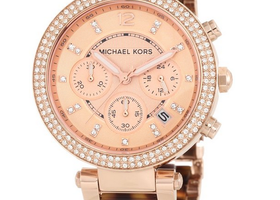 Michael Kors Parker Tortoise & Rose Gold-Tone Watch