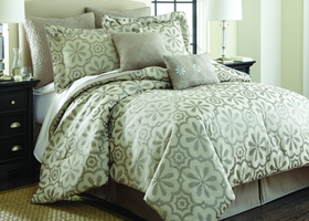 KING 8 Piece Jacquard Comforter Set-Lindsy