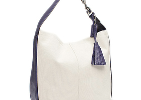 ★BNWT Coach Avery Canvas Leather Hobo (Indigo/Purple)★