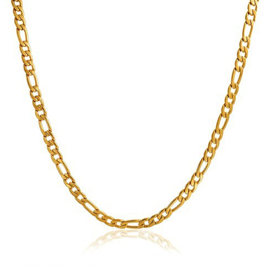 18K Gold Filled Figaro chain