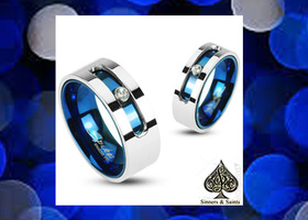 * Cobalt Twist Couples Rings (2 pcs)