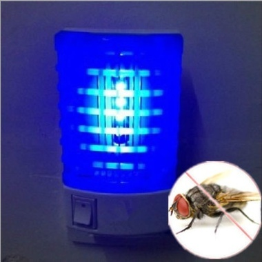 Newest LED Socket Electric Mosquito Fly Bug Insect Trap Night Lamp