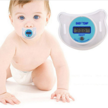 Baby Nipple Thermometer Medical Silicone Pacifier Thermometer for Children