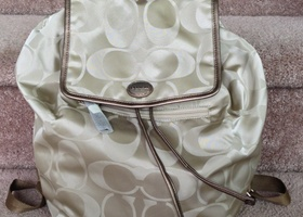 NWT Getaway Signature Nylon Backpack Khaki