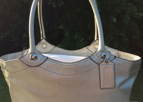 9 Coach Legacy Metallic Leather Bleecker 14384