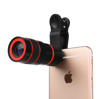 8X Zoom Telescope Phone Camera Lens with Clip for iPhone Samsung HTC Other Mobil