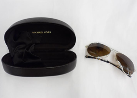Michael Kors Jet Set Polarized Aviator Sunglasses