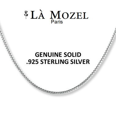 Choose Your Size: Sterling Silver Italian-Crafted Box Chain 16