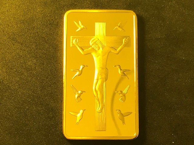 Gold Clad Jesus Crucifixion by worldbusinesszone.com
