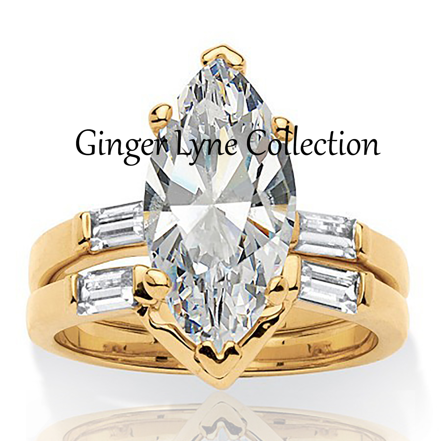 nichole gorgeous marquise wedding ring set ginger lyne collection