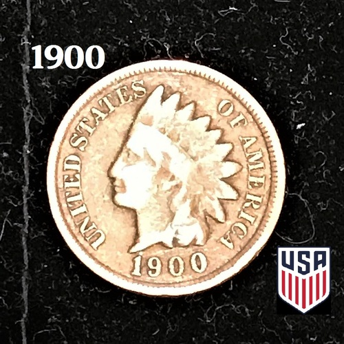 RARE 1900 Indian Head Penny Coin By Worldbusinesszone.com