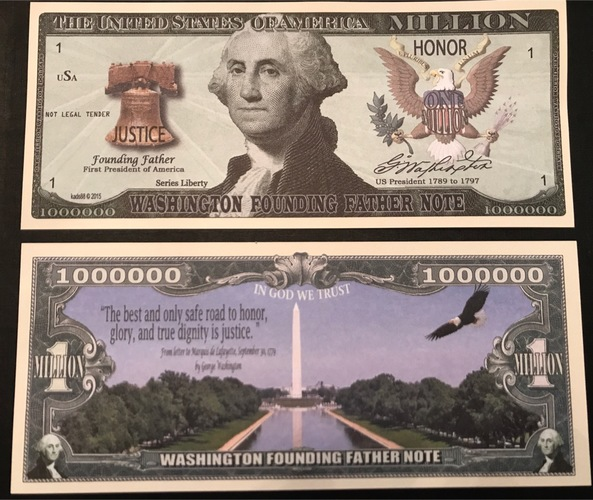 $1,000,000 Note with George Washington