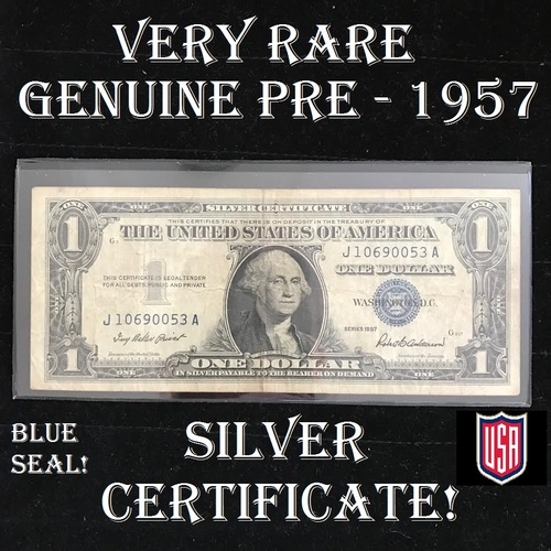 Authentic $1 Dollar SILVER CERTIFICATE