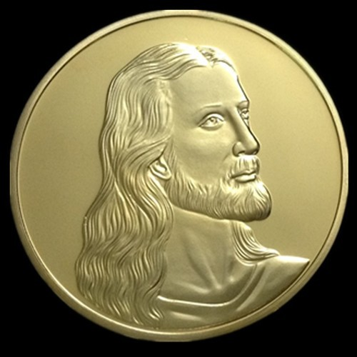 24K Gold Clad One Troy Ounce Jesus Christ By worldbusinesszone.com