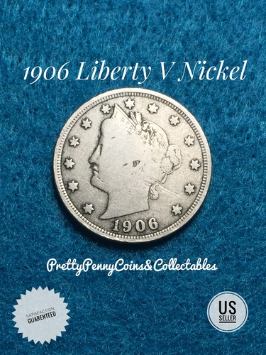 1906 Liberty V Nickel US Coin