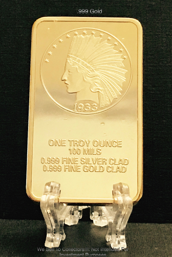 Gold 1933 Gold Indian Eagle Bar